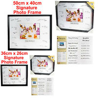 Wall Hanging Signature Photo Frame Guest Book Keepsake Wedding Party Birthday