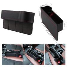 2x Leather Car Seat Gap Slit Filler Pocket Catch Catcher Cup Holder Box Storage