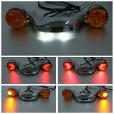 Light Bar W/ LED Bullet Turn Signals For Harley Street Glide Road Glide 2010-19