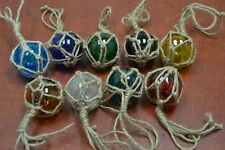 """6 PCS REPRODUCTION GLASS FLOAT BALL WITH FISHING NET 2"""" **PICK YOUR COLORS**"""