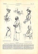 Affaire de la Séquestrée au Tribunal de Poitiers M. Marcel Monnier GRAVURE 1901