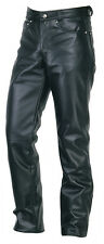 Men's Real Leather 501 Jeans Style Pants  Biker Trousers WITH FREE LEATHER BELT