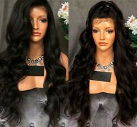 Fashion Women Ladies Long Wavy Full Wig Lace Front Synthetic Wigs Hairs Dress UK