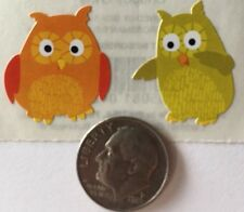 CHUBBY OWL Stickers(6pc)Mrs. Grossman's•Animal•Outside•Tree •Bird•Cutie•Cards•••