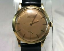 Vintage Jaeger LeCoultre 14k Yellow Gold Round Manual Wind Men's Watch 33mm