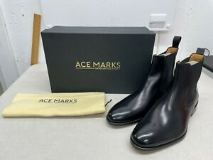 Ace Marks Troy Chelsea Boot - Black - US Size 9