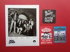 METAL CHURCH,Promo photo,3 Backstage passes,RARE Originals,