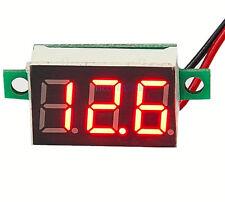 """DC 4.5-30V 0.36"""" 2 Wire RED LED Digital Panel Volt Meter Voltage Voltmeter UK"""
