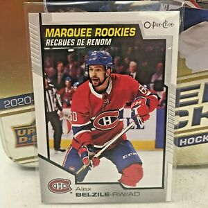 2020-21 Upper Deck NHL M/NM O-Pee-Chee Marquee Rookies Alex Belzile