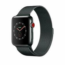 Apple Watch Series 3 42mm Space Black Stainless Steel Case, Milanese Loop 4G LTE
