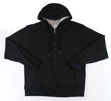 Champion Mens Hoodie Black Size Medium M Full-Zipped Solid Seamed $50 #166