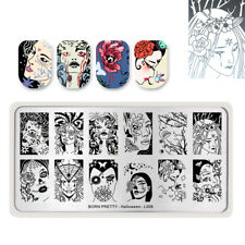 BORN PRETTY Halloween Nail Stamping Plates Witch Manicure Template Tips DIY Tool