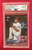 Shohei Ohtani Rookie 2018 Topps Chrome XFractor Gem Mint PSA 10 Refractor RC