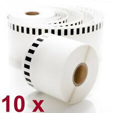 10 Rolls Brother DK-2205 Premium Compatible Labels with 1 Reusable Cartridge