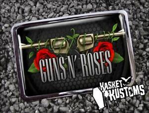 Guns n Roses Belt Buckle - Heavy Metal Music Handmade Silver Buckle - 691-2