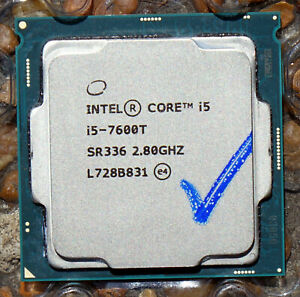 Intel 35W Quad Core CPU SR336 i5-7600T 2.8-3.7GHz Socket LGA1151 - PERFECT