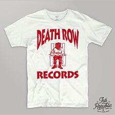 DEATH ROW T-SHIRT Rap Tee Hip Hop Graphic 90's Dr. Dre Snoop Dogg West Coast