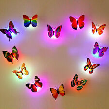 2x Color Changing Butterfly LED Night Light Wall Lamp Kids Bedroom Decor