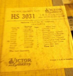 HS3031 VICTOR VALVE GRINDING GASKET SET