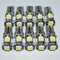 T10 White Led Canbus Error Free 5 SMD Car Side Wedge light Bulb 168 194 W5W 10x