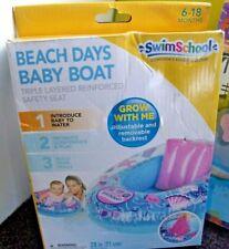 "Swim School 28"" Beach Days Baby Boat 6-18 months Grow With Me New"