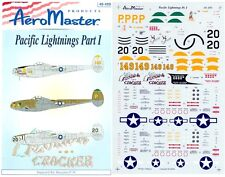AEROMASTER 48-499 - DECALS 1/48 - PACIFIC LIGHTNINGS Pt.1