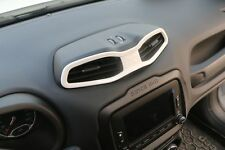 White Inner Central Air Outlet Vents Cover Trims for Jeep Renegade 2015-2018