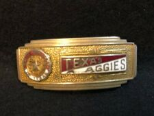 New ListingTexas A&M College Era Aggies Vintage Enamel Metal Belt Buckle Rare
