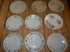 Lot 9 small plates Homer Laughlin, Nasco, W.H. Grindley, Queen Anne Bone China