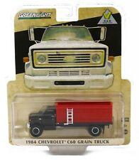 NEW! 1:64 Greenlight 1984 Chevrolet C60 *GRAIN TRUCK* BLACK & RED *NIP*