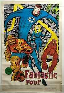 FANTASTIC FOUR Poster Jack Kirby art Marvelmania 1970 Rare Mail Order Only