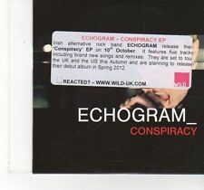 (FX27) Echogram, Conspiracy EP - 2011 DJ CD