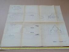 1938 DISEGNO TECNICO AUTO UNION TYPE D GRAND PRIX HAROLD PRATLEY F1 NUVOLARI