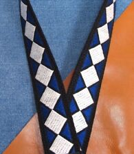 "BLUE ROYAL Cotton USA made 1-1/2"" A & F-style TROPHY Mandolin Strap"