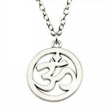 Free 1Pcs Fashion Necklace Antique Silver Yoga OM Charms Pendants Chain Necklace