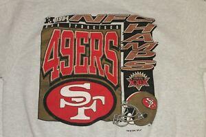 Vintage San Francisco Large 49ers 1994 NFC Champs Gray Crew Neck Sweater FOTL
