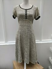 Noa Noa Carolina Cotton Dress Black and Cream Wrap Size M (605)