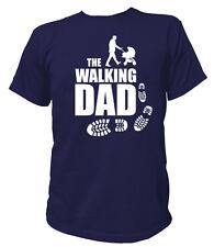 T-Shirt THE WALKING DAD S-3XL Vater Kind Daddy Geburt Kinderwagen Baby JGA Bier