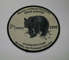 2008 ONTARIO MNR BEAR HUNTING PATCH moose,deer,elk,hunter,canadian,patches,badge