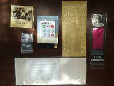 Assorted Lot, Scrapbook Fasteners, Brads, Foils, Letters, Greetings