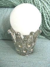 NEW LG ORNATE MERCURY GLASS CROWN DISPLAY STAND--SPHERE EGG BASEBALL TENNIS BALL