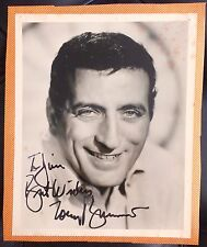 AMAZING MUSIC COLLECTIBLE RARE AUTOGRAPHED PHOTOGRAPH JAZZ SINGER TONY BENNETT