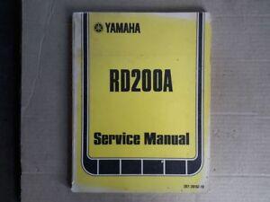 Genuine workshop manual for YAMAHA RD200A/B 1973/74 #397.