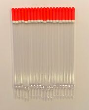 4BB Clear Waggler Floats 17cm long - Pack of 20 Fire Orange & White Band Tips