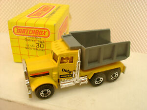 1983 MATCHBOX SUPERFAST #30 PETERBILT DUMP QUARRY TRUCK DIRTY DUMPER NEW IN BOX