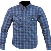 NEW Merlin MX Axe Dark Blue Flannel Off Road Adventure Jacket