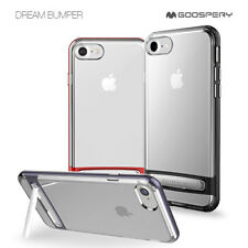 iPhone X 8 Plus 7 Goospery Clear Slim Bumper Hard Kick Stand Hybrid Case Cover
