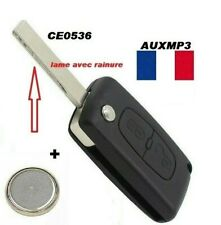 Coque Clé Plip Boitier Télécommande pour Peugeot 207 307 407 2 bouton CE0536
