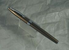 SHEAFFER SAGARIS BRONZE METALLIC FOUNTAIN PEN, M NIB, EXC+