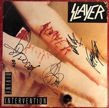 Vtg 1994 Slayer Autographed Signed Divine Intervention Record Store Promo Sign